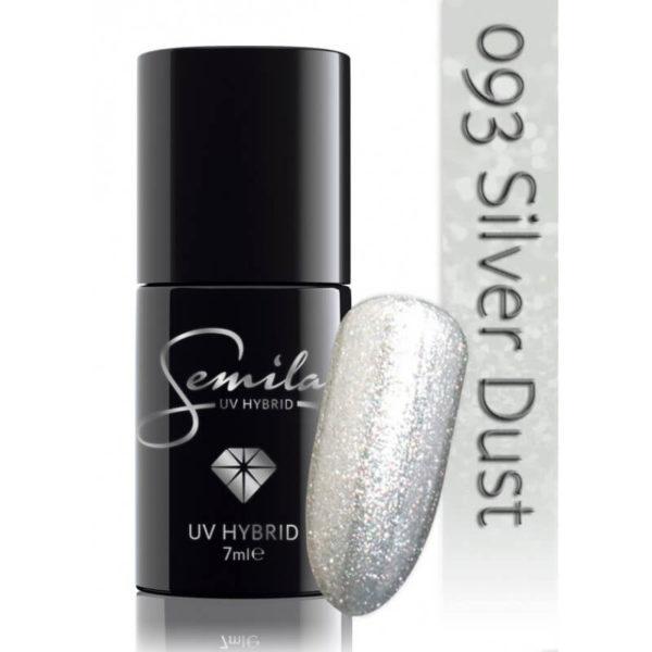 Semilac Lakier Hybrydowy 093 Silver Dust