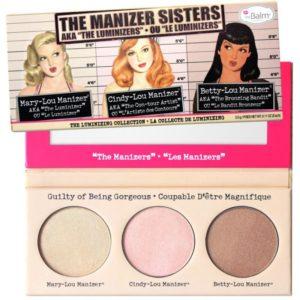 The Balm The Manizer Sisters - Paleta 3 rozświetlaczy