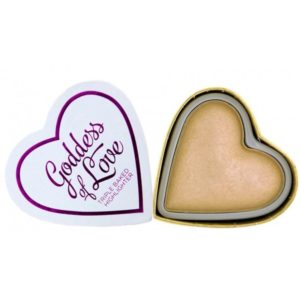 Makeup Revolution Rozświetlacz Hearts Golden Goddness