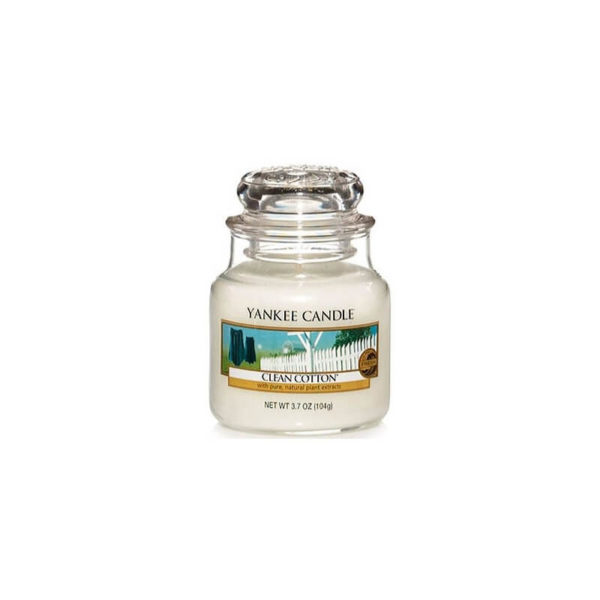 Yankee Candle Clean Cotton - Świeca Mała