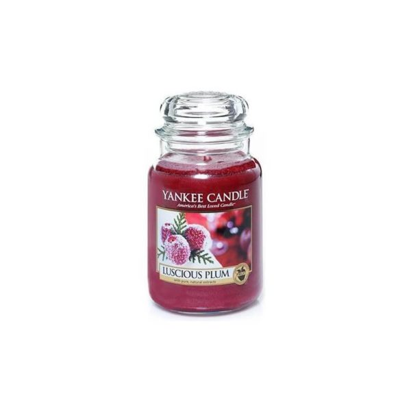 Yankee Candle Luscious Plum - Świeca Duża
