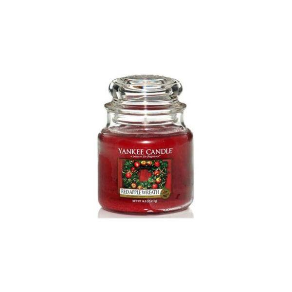 Yankee Candle Red Apple Wreath - Świeca Średnia