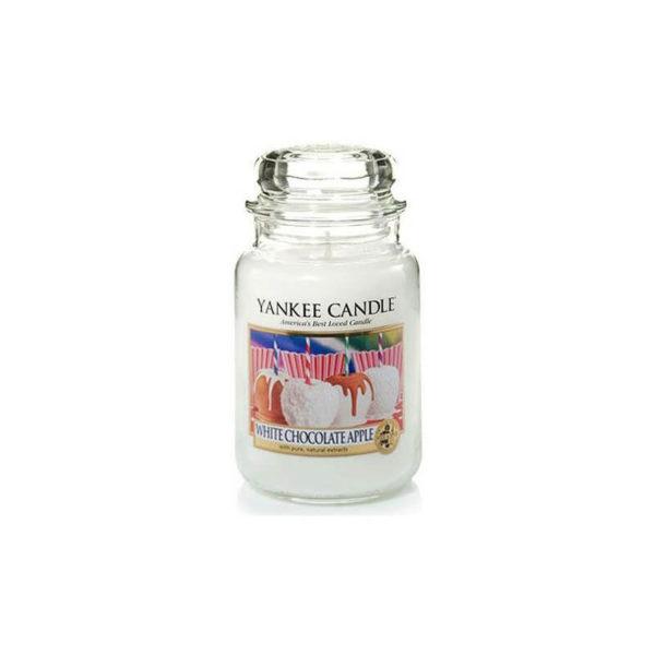 Yankee Candle White Chocolate Apple - Świeca Duża