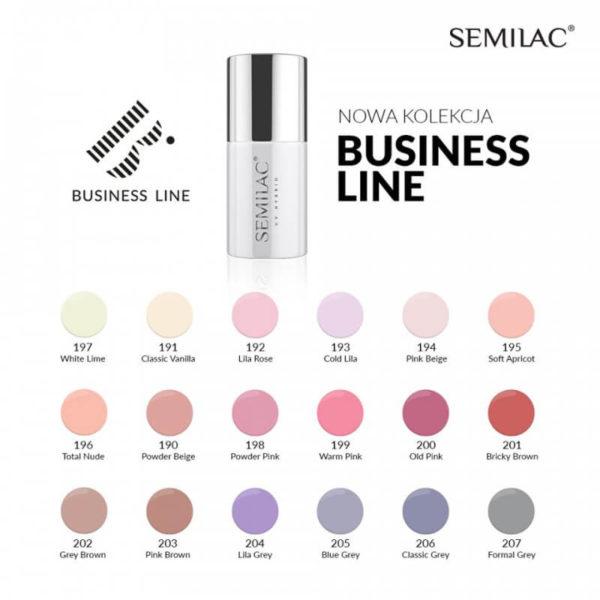 Semilac Lakier Hybrydowy Business Line 192 Lila Rose