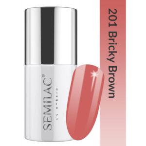 Semilac Lakier Hybrydowy Business Line 201 Bricky Brown