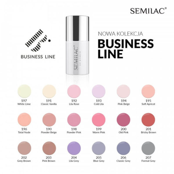 Semilac Lakier Hybrydowy Business Line 201 Bricky Brown