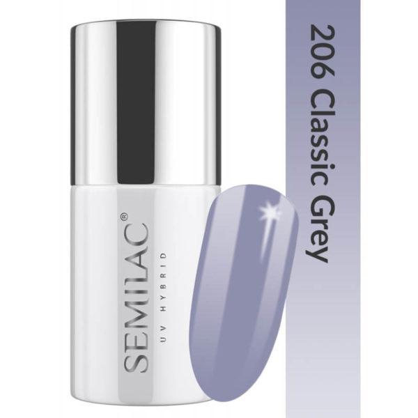Semilac Lakier Hybrydowy Business Line 206 Classic Grey