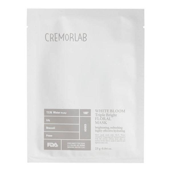 Cremorlab - Maska Rozjaśniająca, Odświeżająca, Wzmacniająca i Intensywnie Nawilżająca