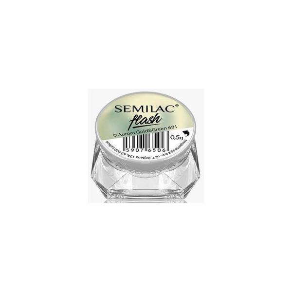 Semilac Pyłek Flash - Aurora Gold & Green 681