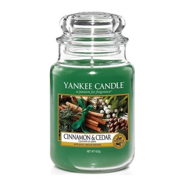 Yankee Candle Cinnamon&Cedar  - Świeca Duża