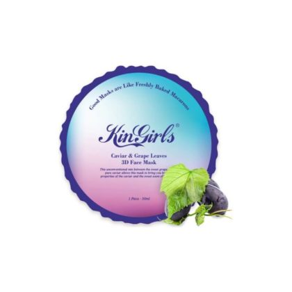 KinGirls Maseczka w Płacie - Caviar&Grape Leaves 3D