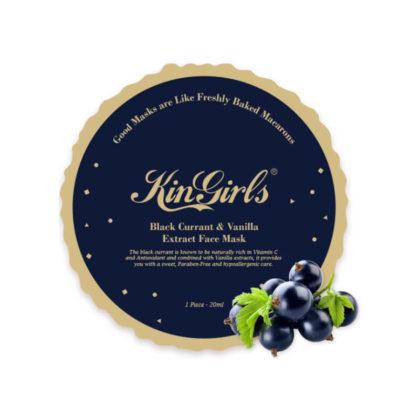 KinGirls Maseczka w Płacie - Black Currant&Vanilla