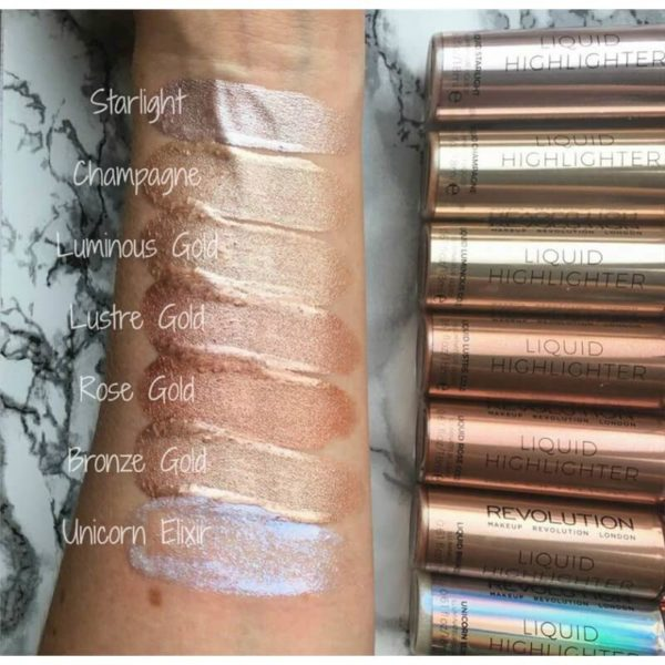 Makeup Revolution Rozświetlacz w Płynie - Rose Gold Liquid Highlighter