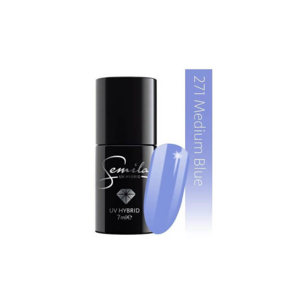 Semilac Lakier Hybrydowy -  271 Medium Blue Pastells