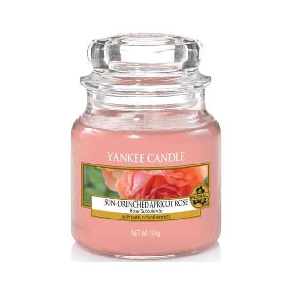 Yankee Candle Sun-Drenched Apricot Rose - Świeca Mała