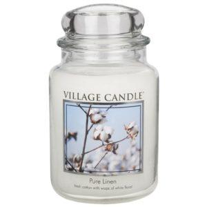 Village Candle Pure Linen - Świeca Duża