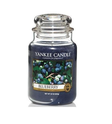 Yankee Candle Blueberry - Świeca Duża