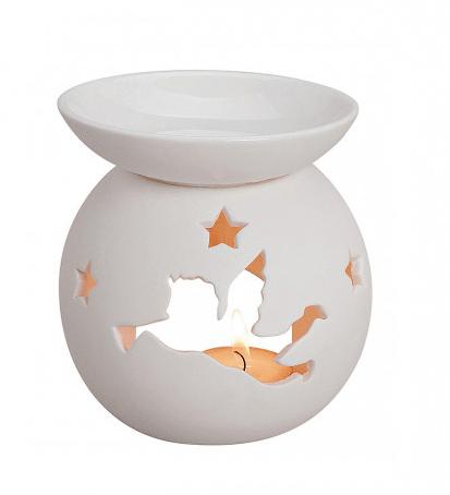 Kominek Ceramiczny - Ażurkowy Aniołek