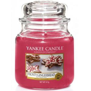 Yankee Candle Frosty Gingerbread - Świeca Średnia
