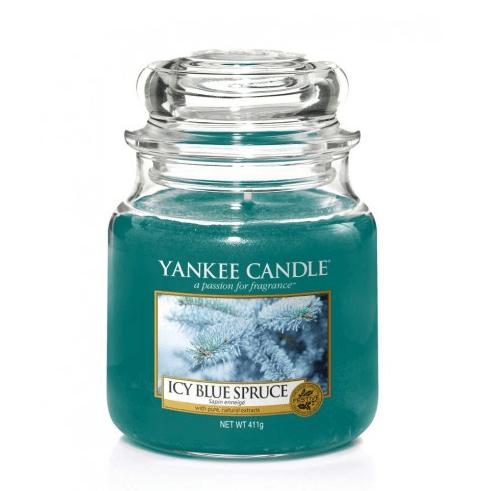 Yankee Candle Icy Blue Spruce - Świeca Średnia