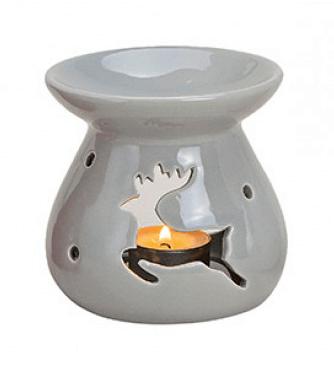 Kominek Ceramiczny - Renifer Szary