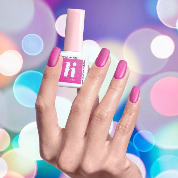 Hi Hybrid Lakier Hybrydowy 260 - Flashing Pink