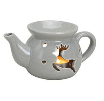 Kominek Ceramiczny - Czajniczek Renifer Szary