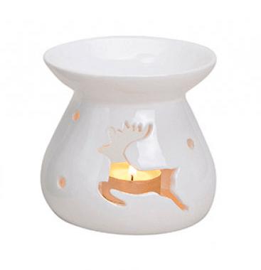 Kominek Ceramiczny - Renifer Biały