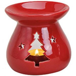 Kominek Ceramiczny - Choinka Czerwona