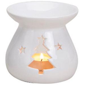 Kominek Ceramiczny - Choinka Biała