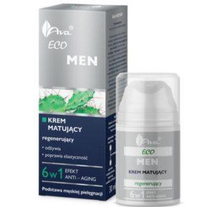 Ava Eco Men - Krem Matujący – Regenerujący