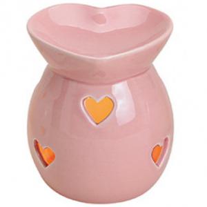 Kominek Ceramiczny - Serca Pudrowy Róż