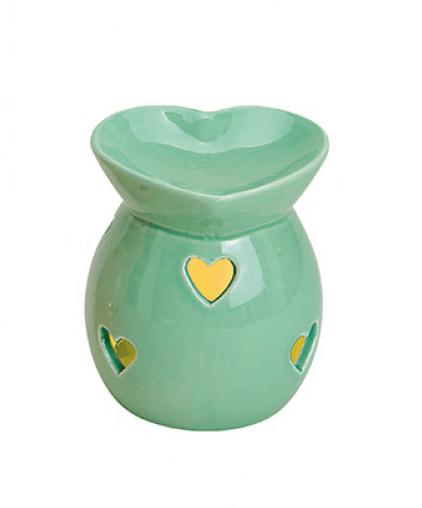Kominek Ceramiczny - Serca Miętowy