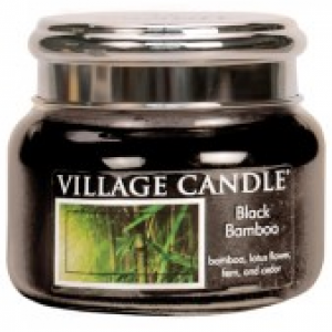 Village Candle Balack Bamboo - Świeca Mała