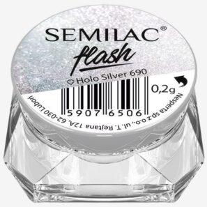 Semilac Pyłek - 690 Flash Holo Silver