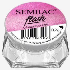 Semilac Pyłek - 689 Flash Holo Pink