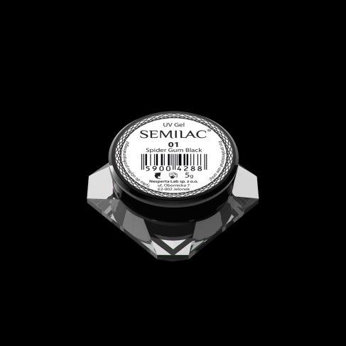 Semilac Żel do Zdobień - Spider Gum 01 Black