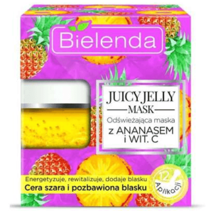 Bielenda Juicy Jelly - Maseczka Odświeżająca Ananas i Wit.C
