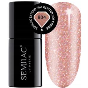 Semilac Extend 5in1 - 804 Glitter Soft Beige