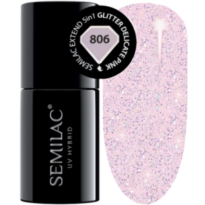 Semilac Extend 5in1 - 806 Glitter Delicate Nude