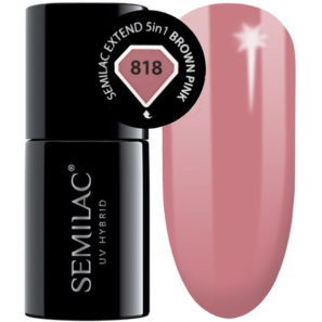Semilac Extend 5in1 - 818 Brown Pink