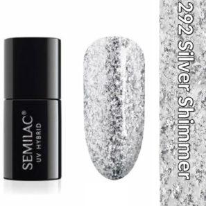 Semilac Lakier Hybrydowy 292 Silver Shimmer