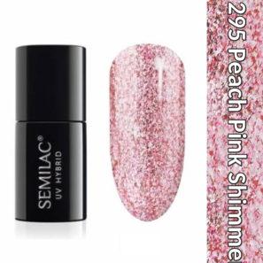Semilac Lakier Hybrydowy 295 Peach Pink Shimmer