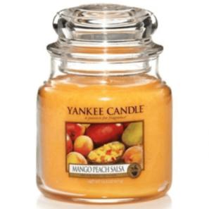 Yankee Candle Mango Peach Salsa - Świeca Średnia